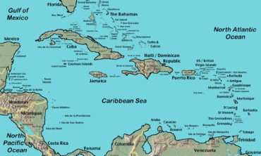 Map of the Caribbean Sea and Islands