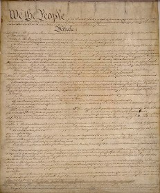 First Page of the U.S. Constitution