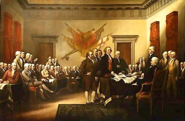 Presenting the Declaration of Independence to John Hancock