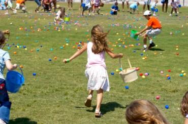 Children Running at an Easter Egg Hunt