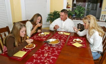 Family Eating Pumpkin Pie