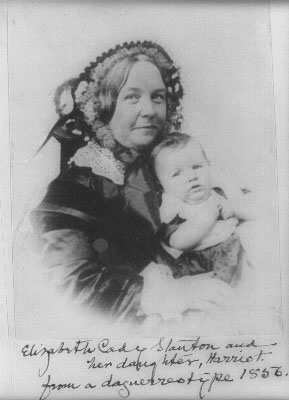 Elizabeth Cady Stanton Photo with Daughter