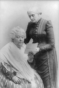 Eizabeth Cady Stanton and Susan B. Anthony