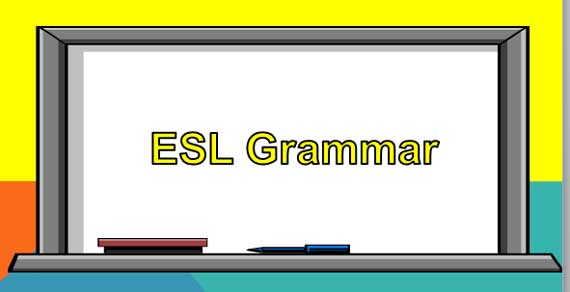 ESL Grammar Worksheets Banner