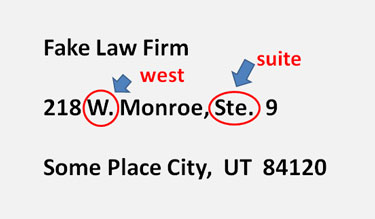 Abbreviation for Suite is Ste.