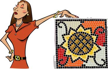 mosaic mosaic art is made with tiles the tiles create