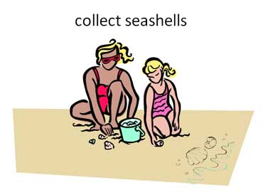 Collecting Seashells in a Pail