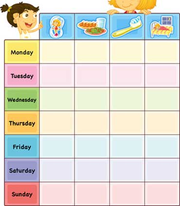 Chart for Daily Schedule