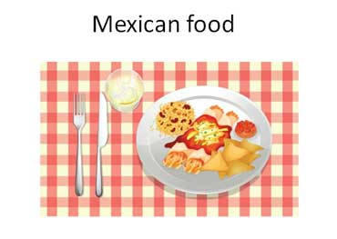 Mexican Food with Rice and Beans