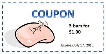 Coupon for a Bar of Soap