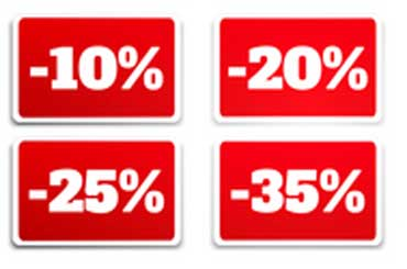 Discounts by Percent