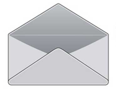 Back of an Envelope with Flap Open
