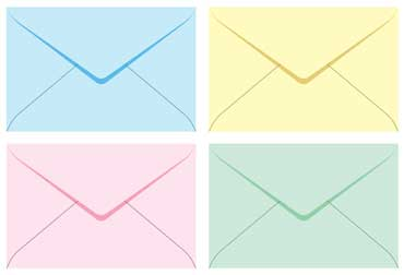Pastel Colored Envelopes