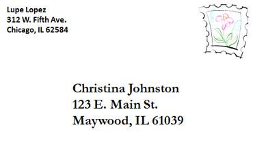 esl envelopes lesson how to address an envelope