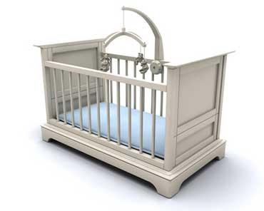 Crib with a Mattress