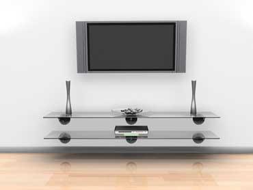 Flat Screen TV and Shelves