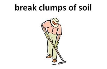 Break the Clumps of Soil