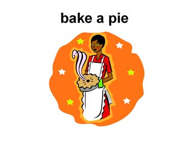 Woman Holding a Pie