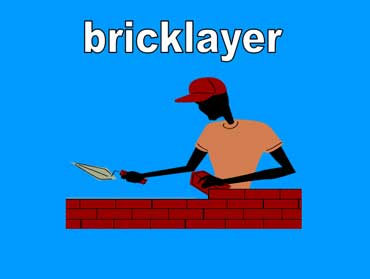 Bricklayer Building a Fence