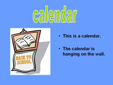 Calendar - Back to School