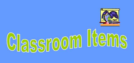 Classroom Items Banner