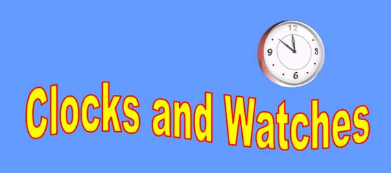 Clocks and Watches Lesson Banner