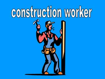 Construction Workers Working Ahead