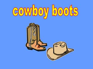 Cowboy Boots and Cowboy Hat