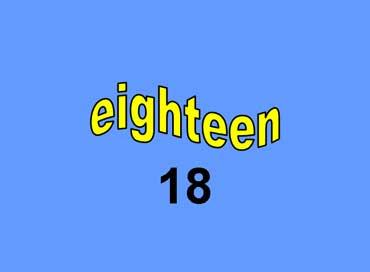 18 - eighteen