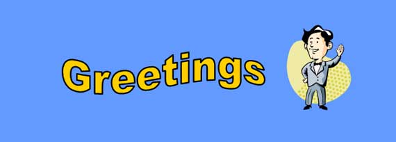Greetings Lesson Banner