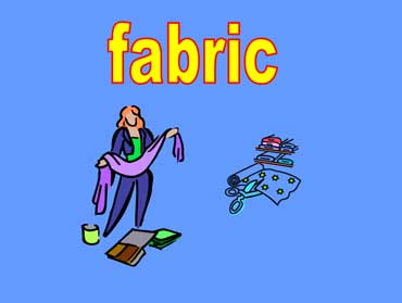 Woman Shopping for Fabric