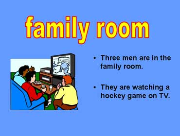 Men Watching TV in the Family Room