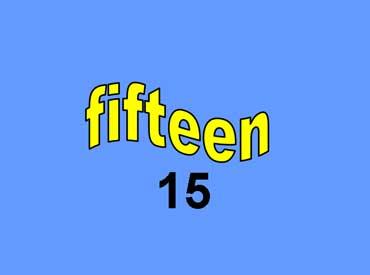 15 - fifteen