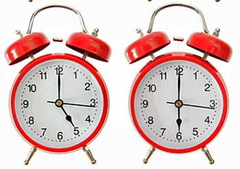 Clocks Showing Five O'clock and Six O'clock