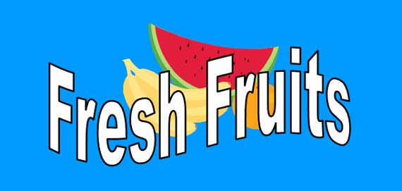 Fresh Fruits Lesson Banner