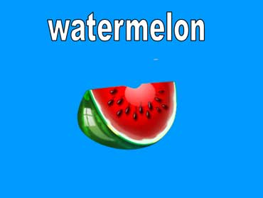 Watermelons Are Geeen on the Outside and Red on the Inside