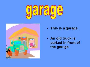 Garage with Cars and a Truck