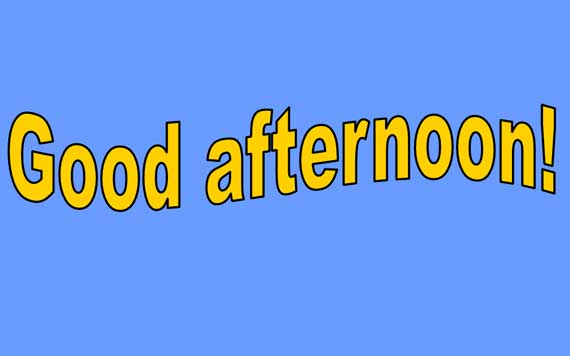 how to say good afternoon in tagalog