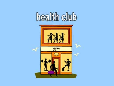 Health Club with Members Exercising
