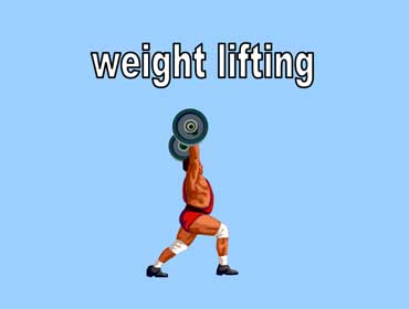 Weight Lifter Lifting Weights