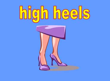Purple High Heeled Shoes