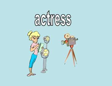 An Actress Filming a TV Show