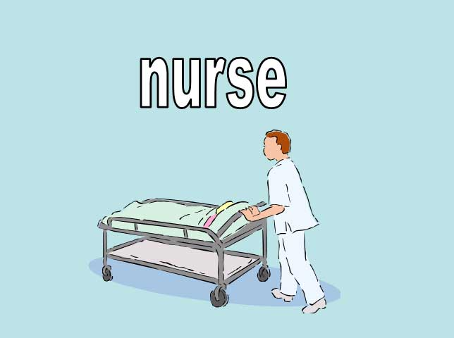 Nurse Pushing a Patient