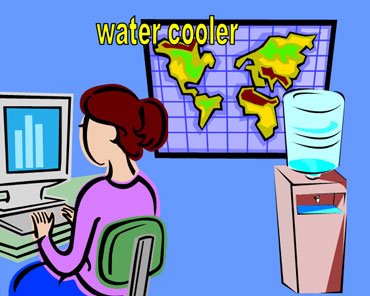 Water Cooler in an Office