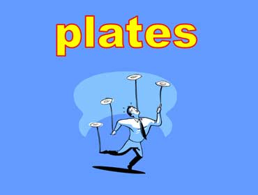 Man Juggling Plates