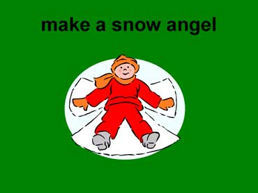 Make a Snow Angel