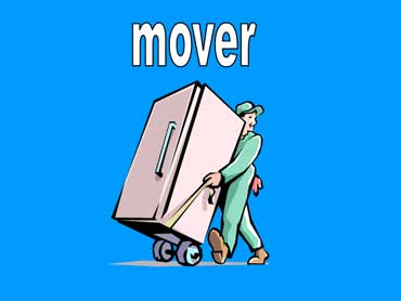 Mover Moving a Refrigerator