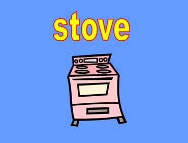 Stove with Four Burners