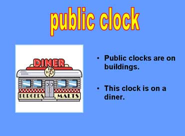 Public Clock on a Diner