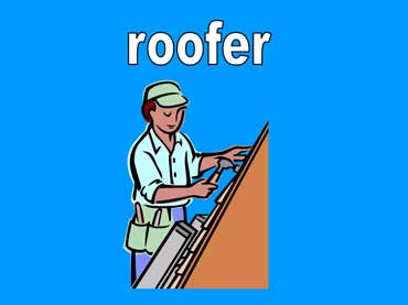 Roofer Fixing the Roof